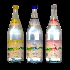 Levico acqua minerale bottiglie storiche