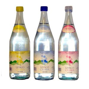 Old Levico mineral water packaging