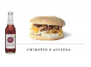 combination of Levico Chinotto anchovy panino