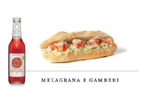 Levico beverages combinations melagrana and prawns