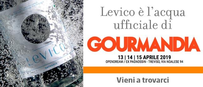 Levico Acque è l'acqua ufficiale di Gourmandia 2019